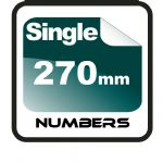27cm (270mm) Race Numbers (single numbers)
